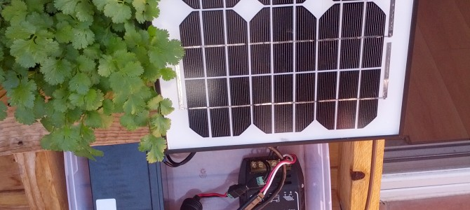 Using a 10W solar panel and 8Ah battery to charge phones and run a Wi-Fi Access Point