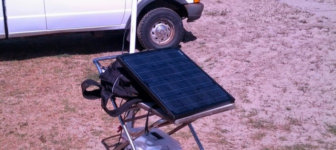 Using a 30W solar panel and 22Ah Battery to power a Ubiquiti radio
